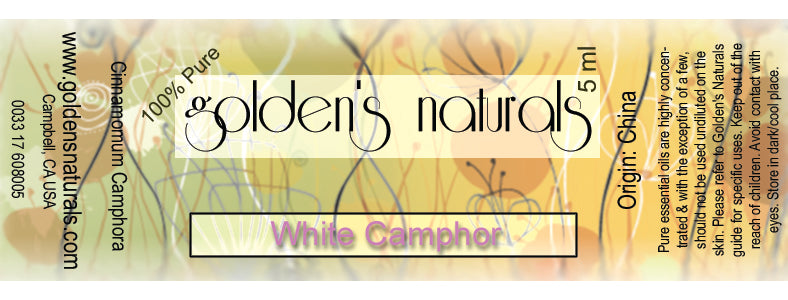 Camphor, White Essential Oil, Essential Oils, Golden's Naturals - Golden's Naturals = quality essential oils at affordable prices