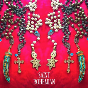 Saint Montano White Coral Coptic Necklace