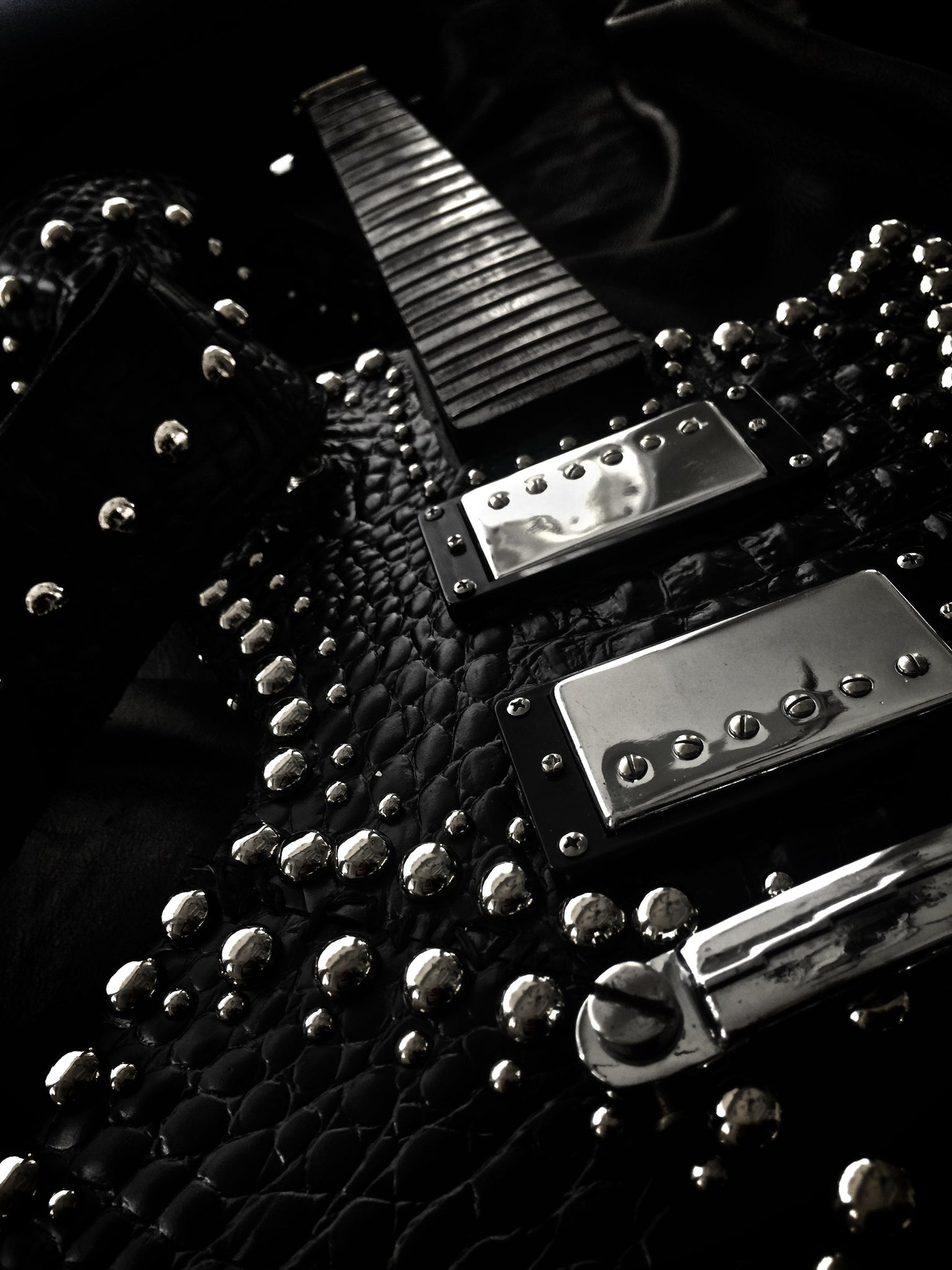 Sinistar Custom Whip Stitch Guitar Leather - CONTACT FOR INQUIRY