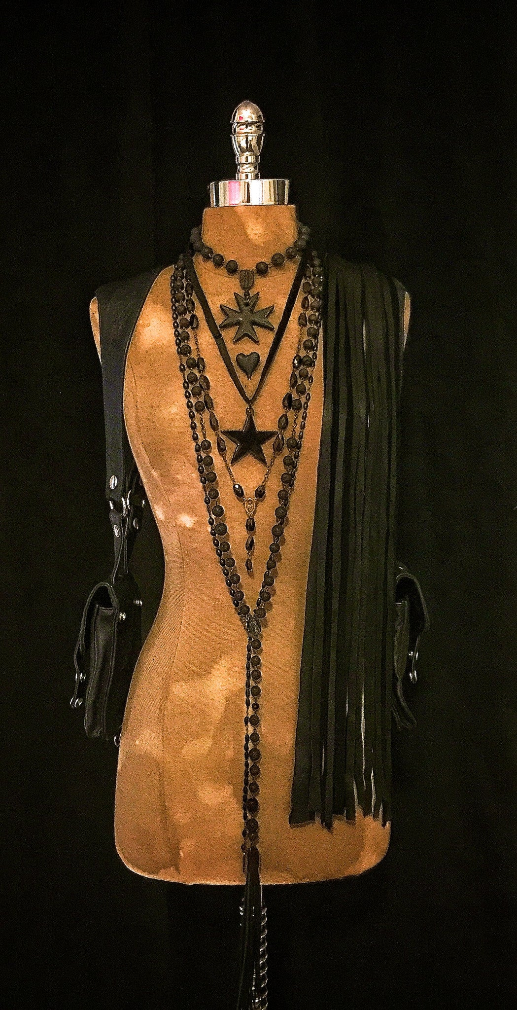 Saint Kimberly Lava And Leather Necklace