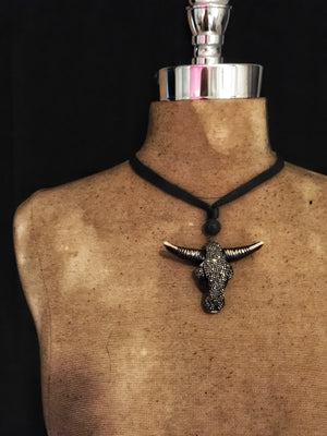 Saint Sinistar Crystal Bull Necklace