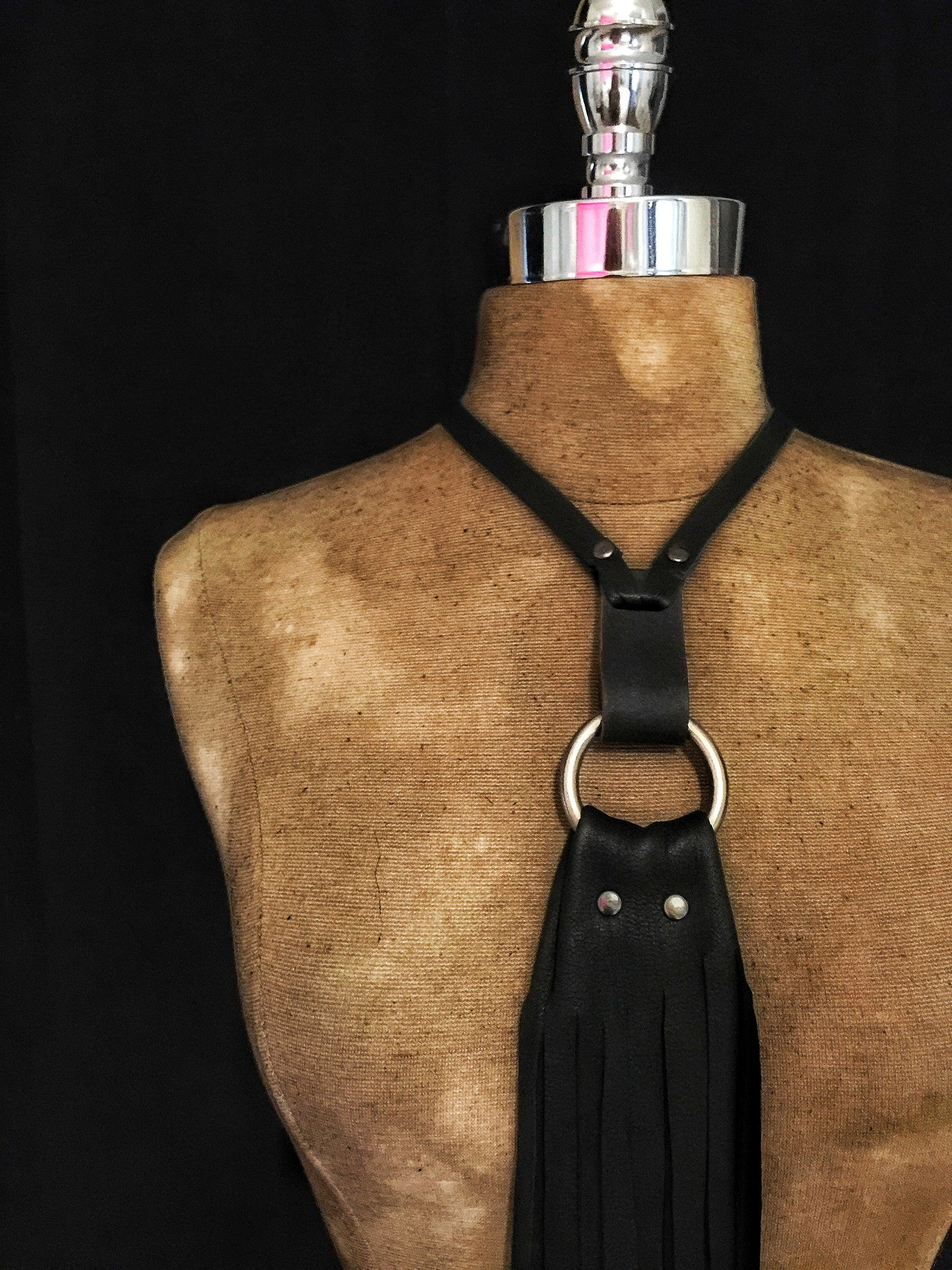 Saint Kweens 'Noir Sucre' Leather Choker
