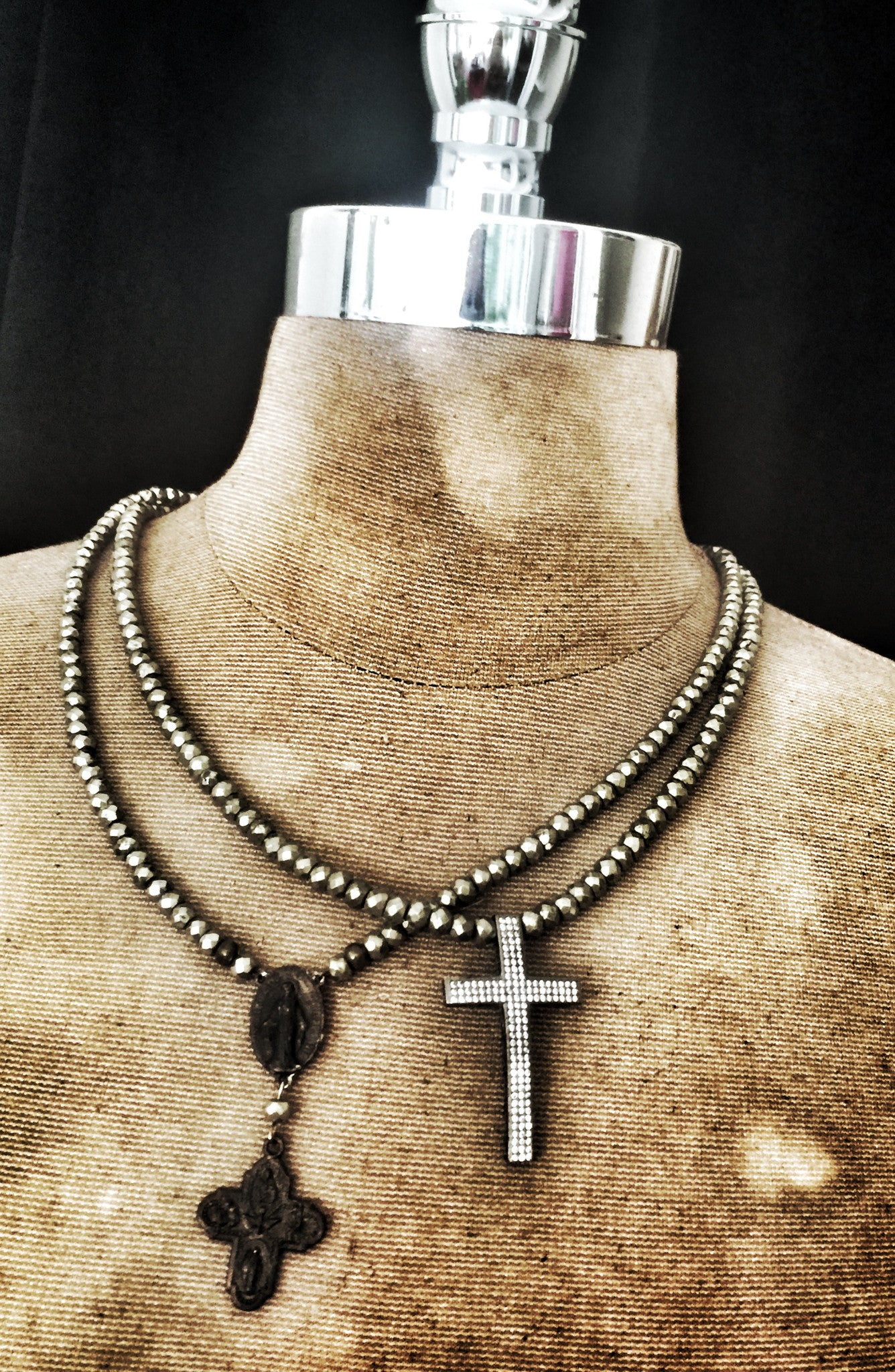ST. FORTUS BRONZED CROSS NECKLACE