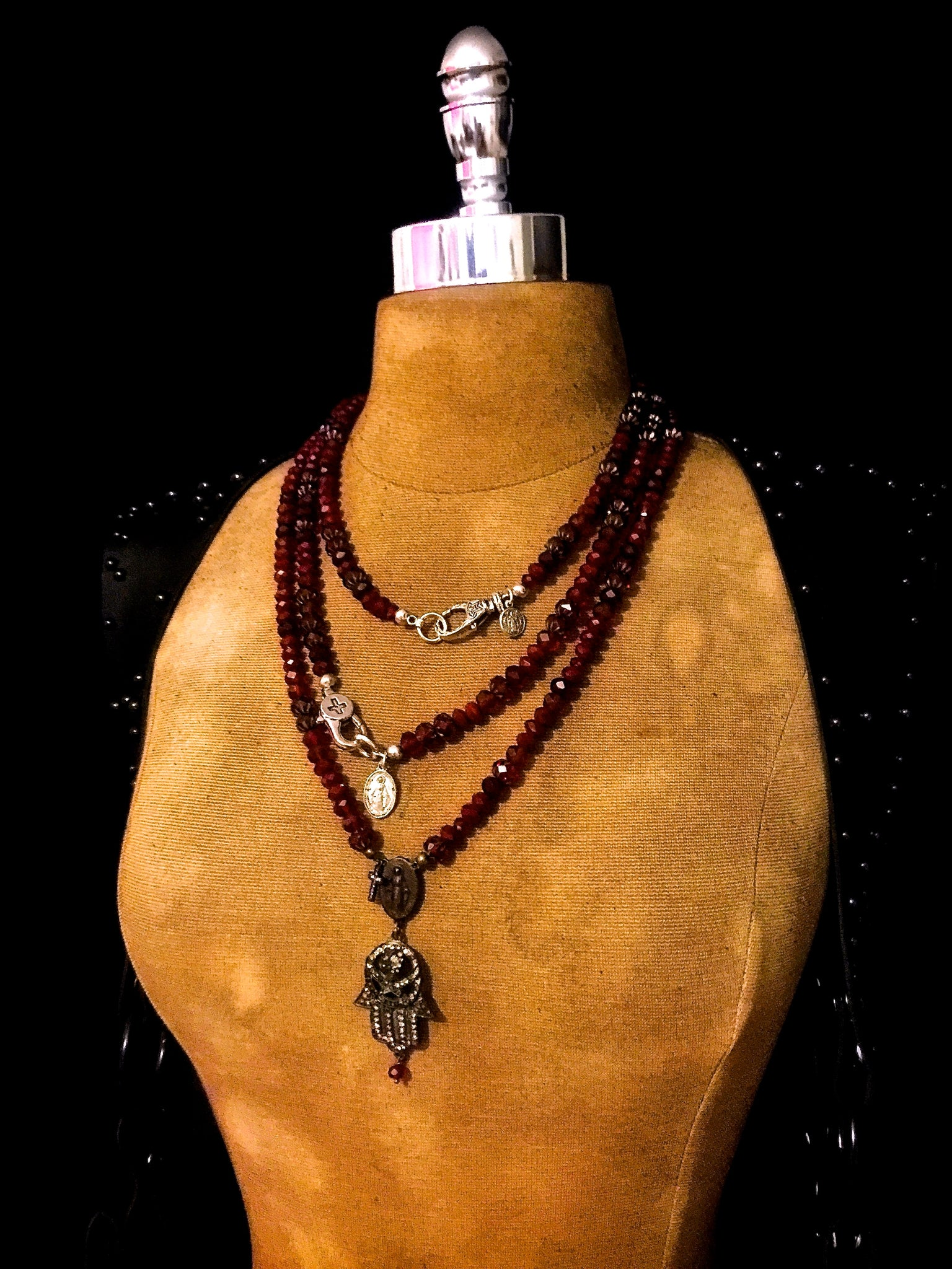 Fortus Collection Ruby Red Rock Necklace