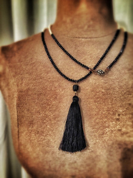 Rock Goddess Noir Wrap Necklace