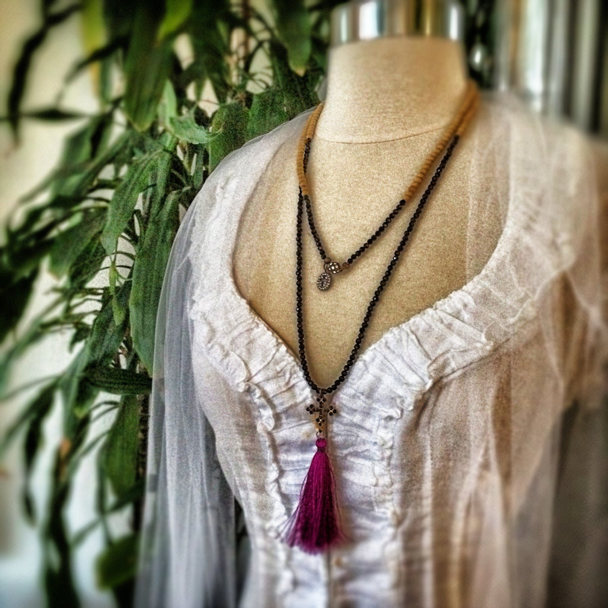 Saint Thalia Tassel Wrap Necklace