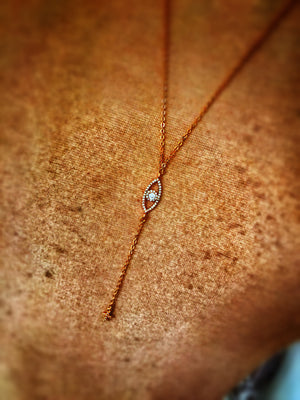 Mina Rose Gold Evil Eye Necklace