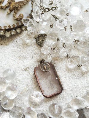 St. Bristol Quartz Rock Necklace