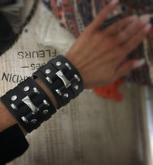 Saint & Sinner Leather Cuffs