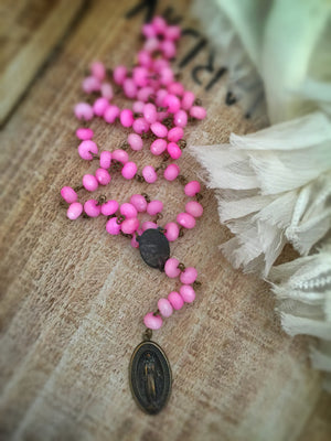 Saint Lucia Rosary Necklace