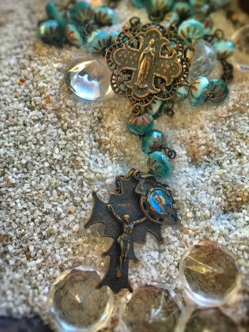 Saint Calypso Rosary Necklace