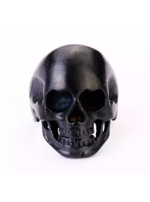 Saint Lazlo Black Skull Ring