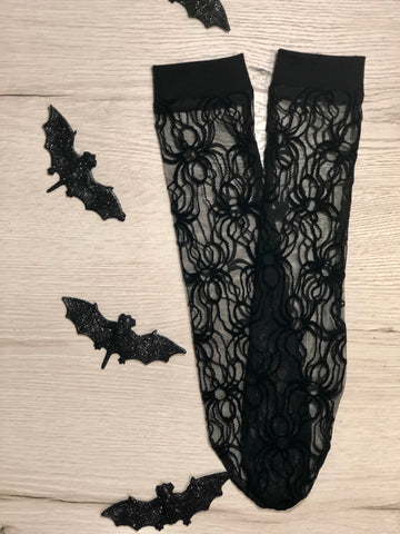 Spider Lace Knee Highs