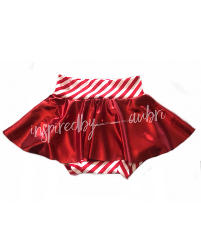 Candy Cane Skirted Bummies