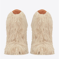 296b275bafa Ugg Boots Furry Fur UGG Boots Black Feather Short Ankle Boots Ladies ...