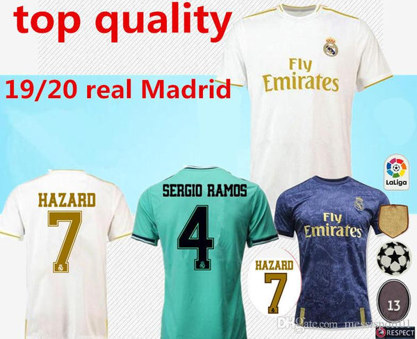 2019/20 Real Madrid Soccer Replica Jersey home away NEW HAZARD soccer shirt #20 ASENSIO ISCO MARCELO madrid 19 20 Football uniforms size S-2XL 1 2 3 4