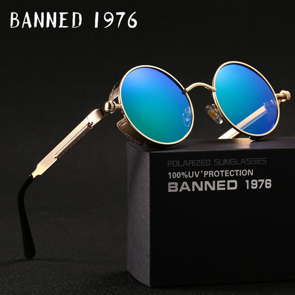 HD Polarise Round Metal Sunglasses Uv400 Men's Aviators Unisex Sunglasses With Box