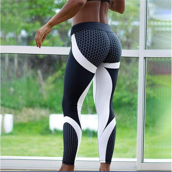 2ec33db85d4dc9 8colors Hot Honeycomb Printed Yoga Pants Women Push Up Sport Leggings  Professional Running Leggins Sport Fitness