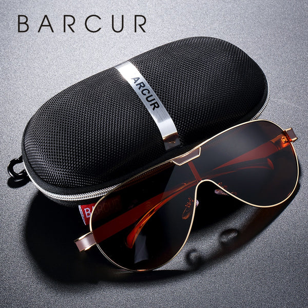 BARCUR Driving Polarized Sunglasses Brand Designer Sunglasses for Men