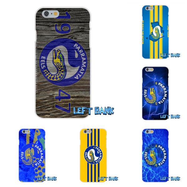 For Samsung Galaxy Note 3 4 5 S4 S5 MINI S6 S7 edge Nrl Parramatta Eels Soft Silicone TPU Transparent Cover Case