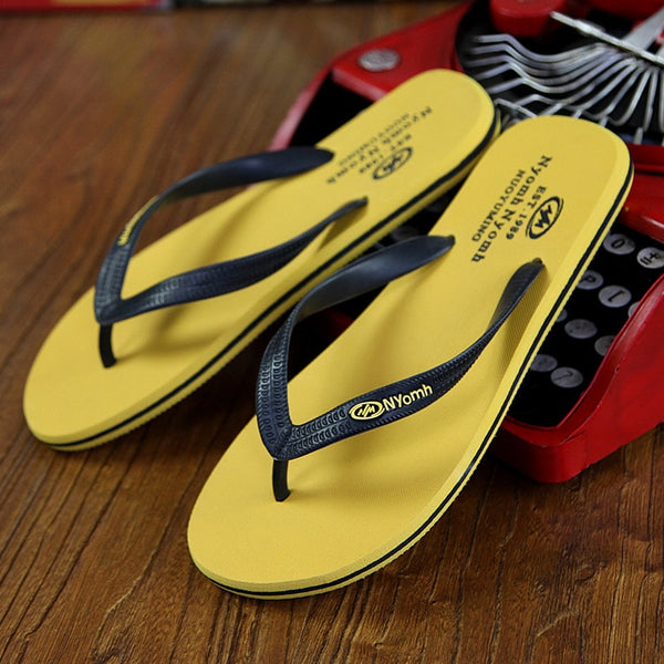 Men's Flip Flops Rubber Male Slippers Summer Fashion Beach Sandals Shoes for Man High Quality plus size 39-44