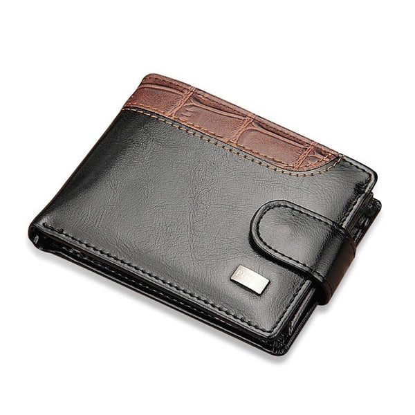 Baellerry Vintage Leather Hasp Small Wallet Men Coin Pocket Purse Card Holder Men's Wallets Money Cartera Bag Male Clutch W066