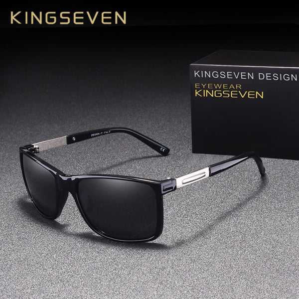 KINGSEVEN Brand Fashion Polarized Sunglasses Men For Driving Eyewear UV Protection Designer Sun Glasses Square Oculos