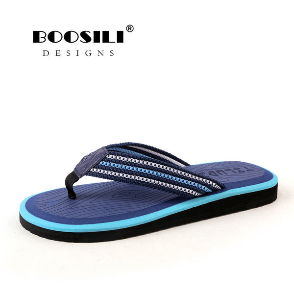 Zapatillas Hombre Rushed Men Sandals 2019 New Breath Flip Flops Men Outdoor Bath Slippers High Quality Male Stripe Flat