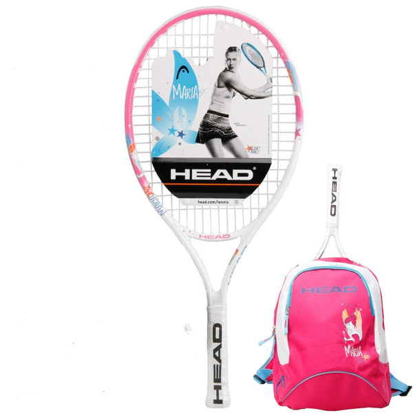Head 21/23/25 Inch Junior Carbon Fiber Tennis Racquet for Kids Youth Childrens Sharapova Training Rackets With bag