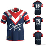 Replica Jerseys Custom name and number 2019 SYDNEY ROOSTERS Home ANZAC rugby Jerseys National Rugby League S-3xl
