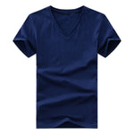 Men's T-Shirts V-Neck Plus Size S-5XL T shirt Men Summer Short Sleeve T Shirts