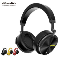 Bluedio T5 HiFi Active Noise Cancelling headphones wireless bluetooth headset with microphone T5S
