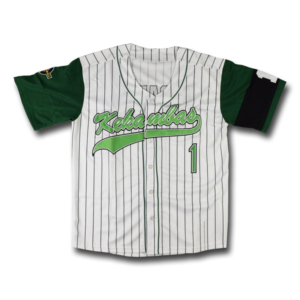 G-Baby #1 Kekambas White Stripes Baseball Jersey