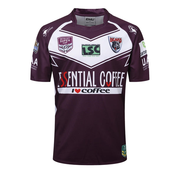 INTRUST SUPER CUP 2018 2019 Burleigh Bears Rugby Jerseys League jersey Burleigh Bears shirt s-3xl