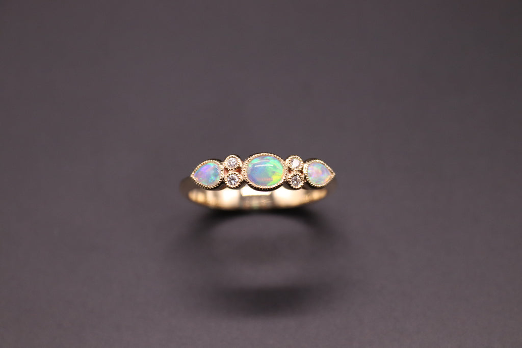 Opal & Diamond Dress Ring