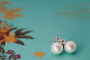 Pearl & Diamond Stud