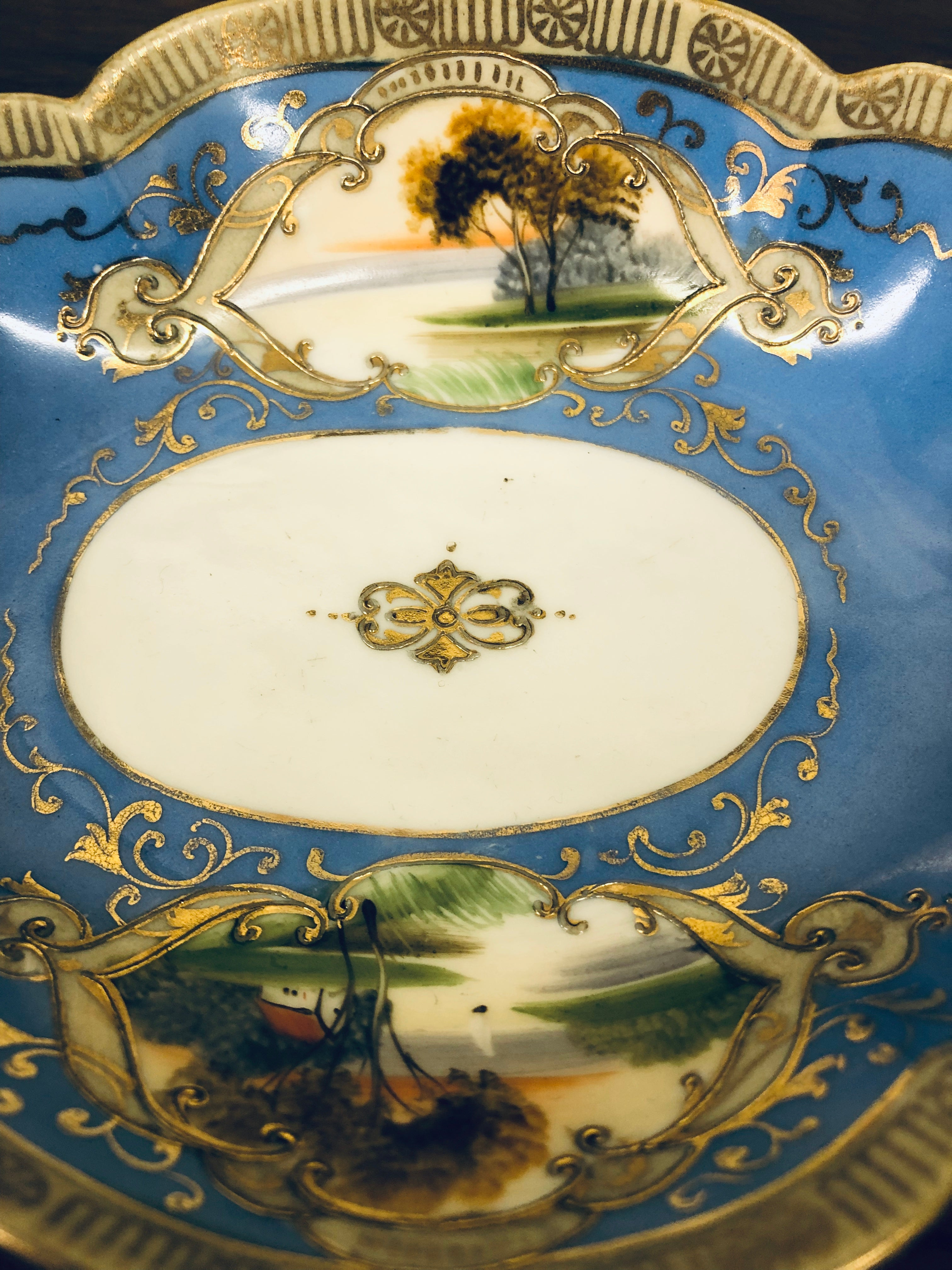 Noritake Oval Guilded Dish