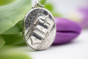 Antique Silver Buckle Locket
