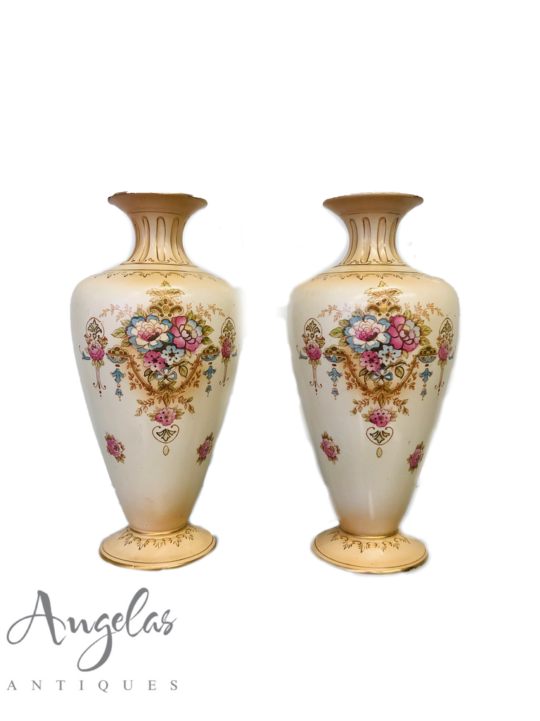 Pair of Crown Devon Vases