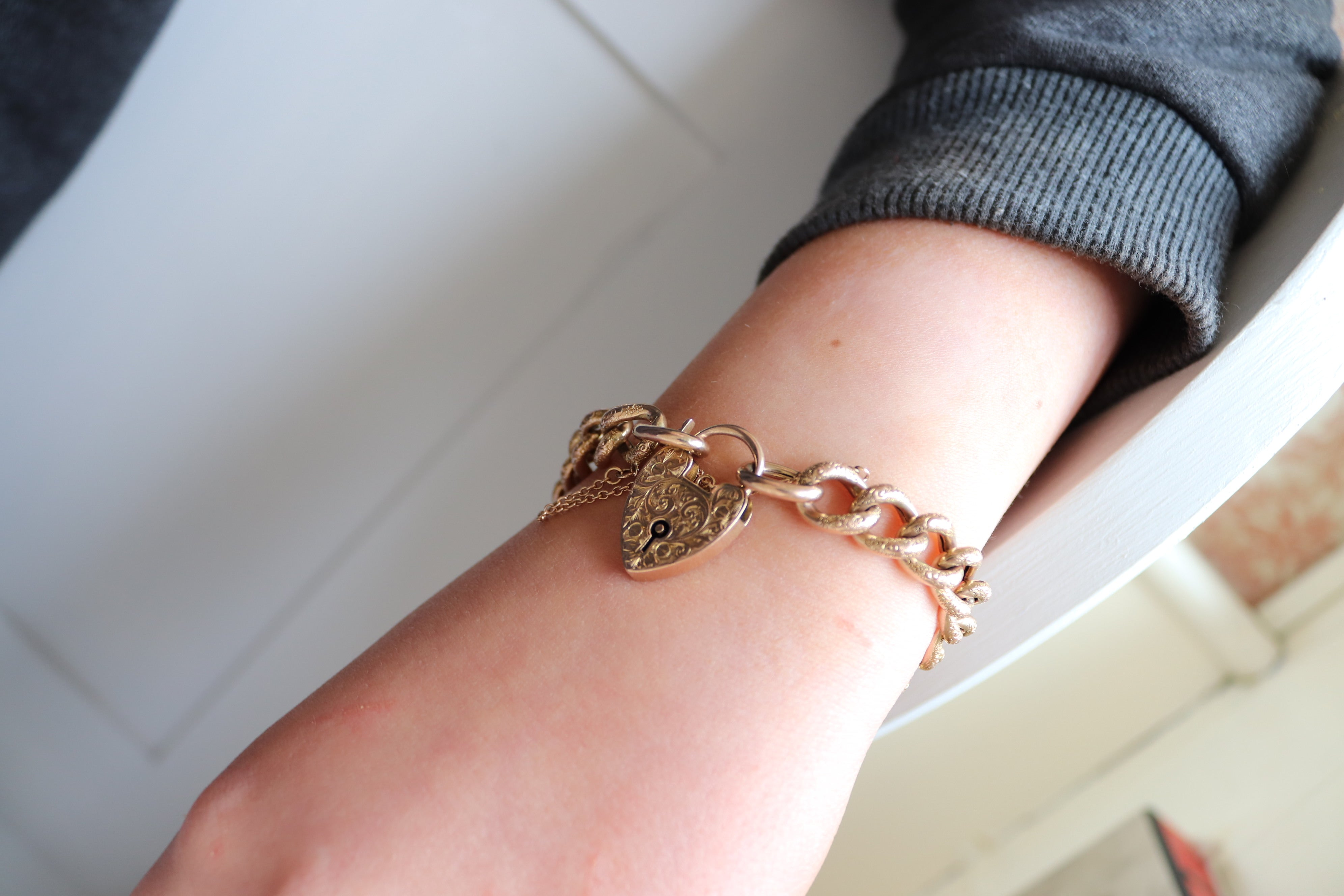Antique Padlock Bracelet