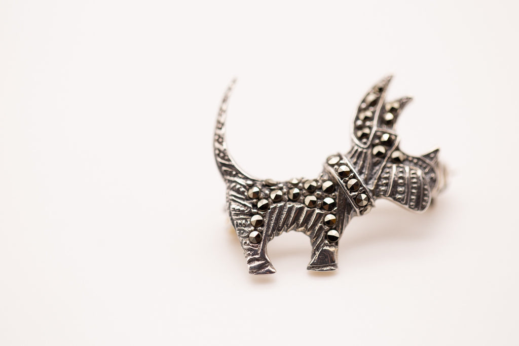Small Dog Shaped Brooch