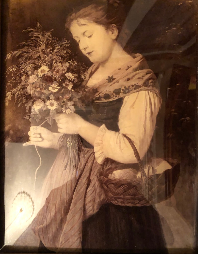 Victorian Crystoleum Painting On The Reverse Of Glass