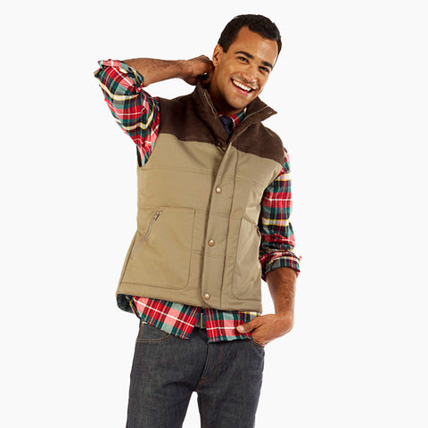Mens Suttonfield Vest, front view