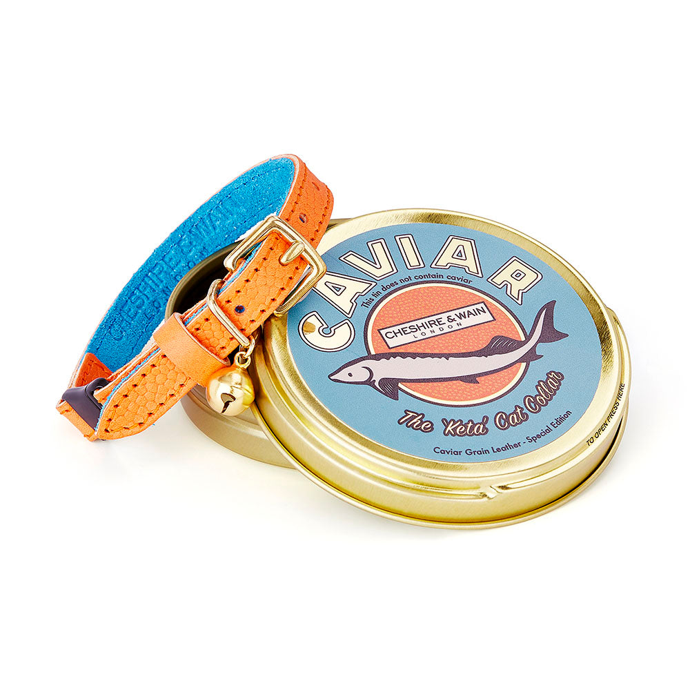 [product _vendor] Keta Caviar Leather Cat Collar - STYLETAILS