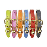designer leather cat collars by cheshire & wain