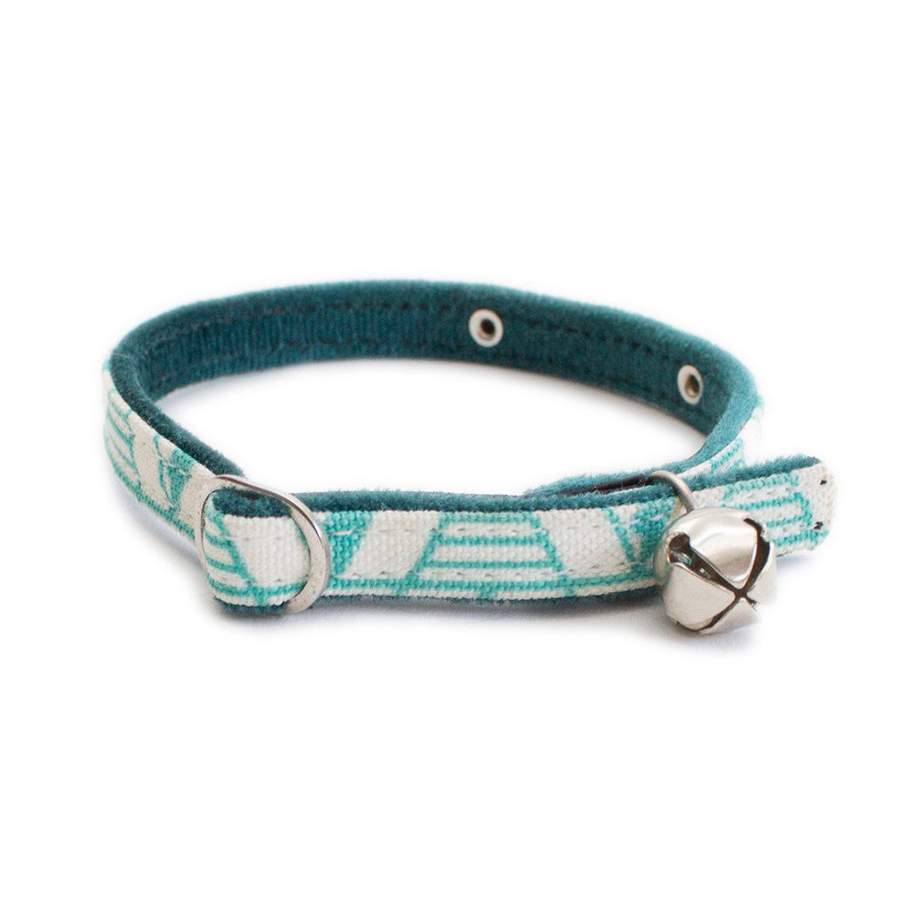 Geo Green Cat Collar