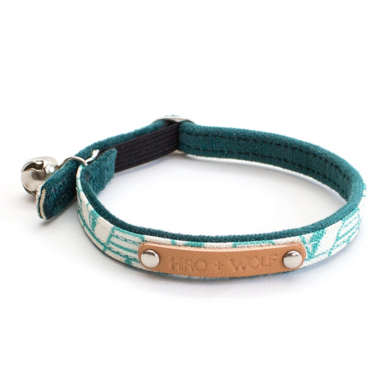 Geo Green Cat Collar hiro wolf