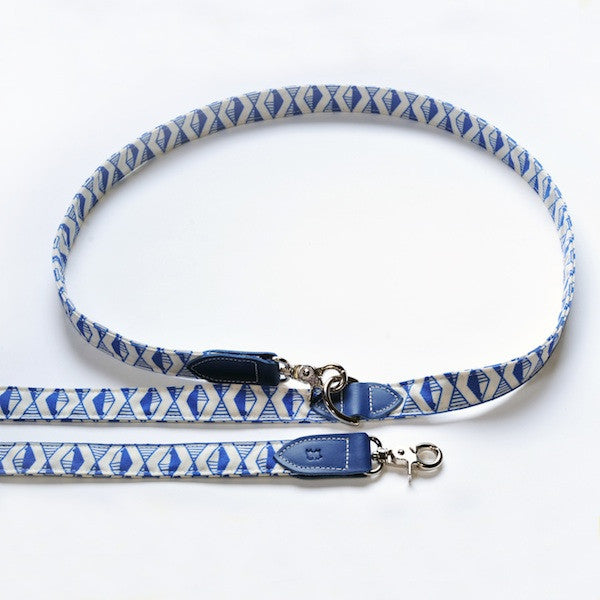[product _vendor] Geo Blue Hands Free Dog Lead - STYLETAILS