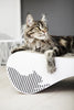 VIGO Cardboard Cat Scratcher Lounge - White