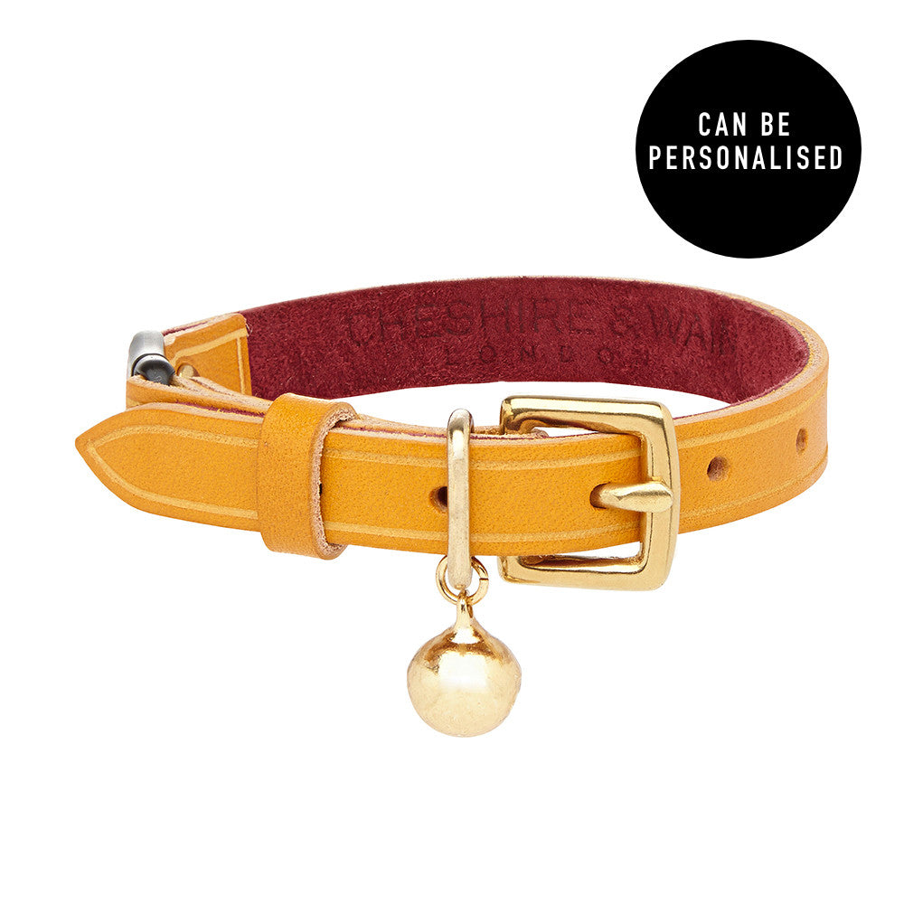 Mango Heritage Ochre Leather Cat Collar